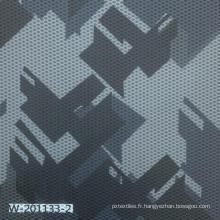 Tissu imprimé géométrique 100% polyester personnalisé