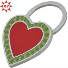 Benutzerdefinierte Rad und grüne Farbe Herz-Form-Schlüsselanhänger