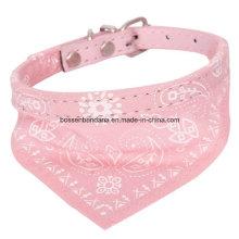 Logotipo personalizado de produto OEM impresso pequeno cão de estimação ajustável gato lenço cachecol lenço coleira lenço de pescoço