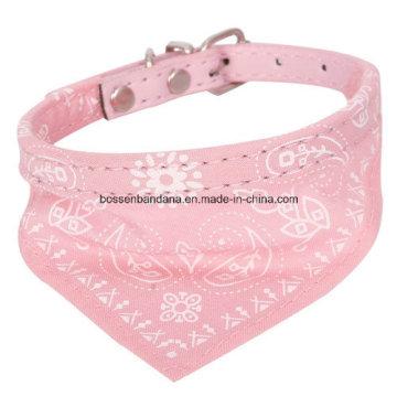 Le logo personnalisé de produit d'OEM a imprimé le petit foulard réglable de collier d'écharpe de chat de chat de chien de compagnie