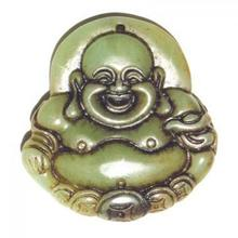 Carved Happy Buddha Amulet