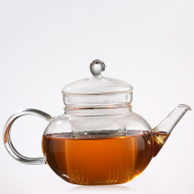 Hand blown borosilicate glass teapot with strainer glass tea pot