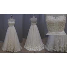 Robe de mariée en dentelle Applique sans bretelles 2016 nouveau style