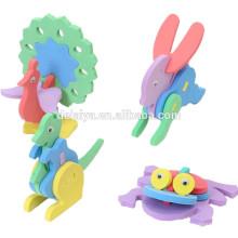 Высокое качество дети DIY ручной работы 3D Ева головоломки животных модель собранные игрушки