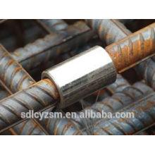 Acoplador reforzado de acero para conexión de barras de refuerzo