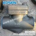 Válvula de retención de pistón de acero forjado 800lb A105n