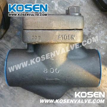 Válvula de retenção de aço forjado pistão 800lb A105n