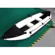 Aufblasbares Angelkajak, einzigartiges gelbes Boot für bessere Leistung