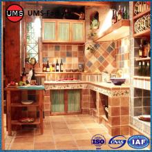 Rustic brick effect porcelain tiles for kitchen