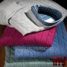 Sweat à capuchon pour hommes en tricot sans motif