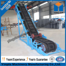 Large angle skirt board belt conveyor