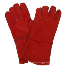 Red Cow Split Leather Welding Gloves Safety Work Glove
