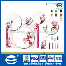 round 10pcs set of ceramic tableware alibaba new bone china promotional house ware items with nice flower decal
