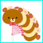 2015 Summer promotional gift cheap custom animals design 7 folding PP plastic hand fan