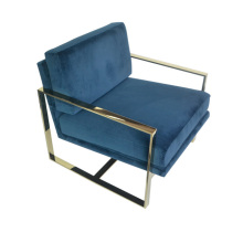 Single gold stainless steel armchair