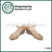 Lágrimas de mar lluvia Botas impermeable estudiante zapatos con gelatina cristal lluvia Linda botas de venta C-B001
