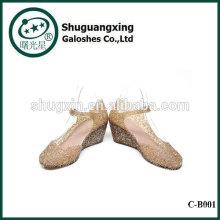 Слезы моря дождь сапоги обувь водонепроницаемая студент с желе кристалл мило дождя сапоги для продажи C-B001