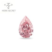 ForeverFlame 10ct fancy pink  Pear Cut huge  diamond CVD CZ color Moissanite