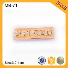 MB71Metal Stamping Logo Platte Metall Custom Design Logo Abzeichen Markennamen Abzeichen