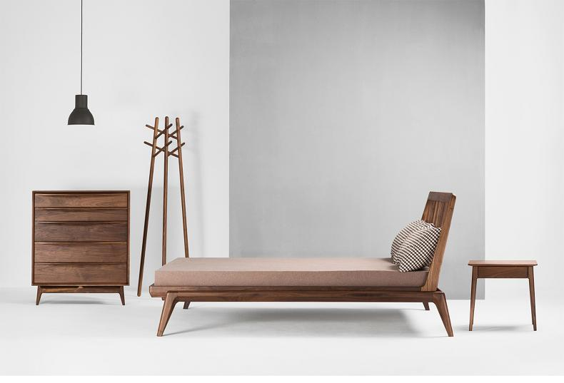 walnut bed sets