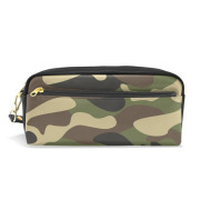 PU Military Camouflage Pen Pencil Case Bag