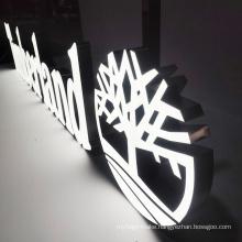 Factory Manufacturer Logo 3d Sign Shop Front Custom Outdoor Sign Big Led Letter Rimless Resin Signage