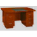 Hölzerne kleine Größe moderne halbrunde Kante Büro Schreibtisch für Personal
