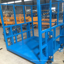 4m electric warehouse truck working platform lifting and lowering lift mechanism on promotion