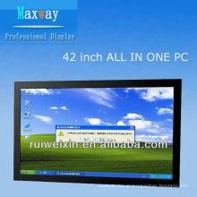 42 polegadas tudo em um processador touchscreen PC D525 1.8G
