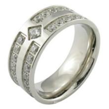 Man Mode 925 Sterling Silber Mikro pflastern Einstellung Ring