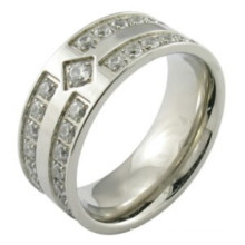 Man Fashion 925 Sterling Silver Micro Pave Setting Ring