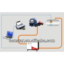 Instrumentação de calibração do posto de gasolina óleo combustível tanque