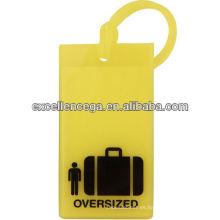 Etiqueta de equipaje de goma