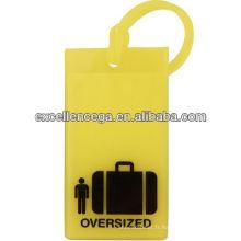 Étiquette de bagage en caoutchouc
