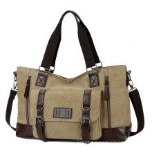 Новая мужская повседневная сумка холст одного плеча спортивная сумка