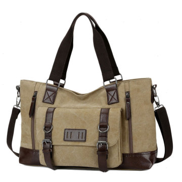 New men's casual travel bag Canvas single shoulder sports bag