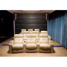 Sofá de muebles para asientos de cine en casa