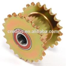 China Herstellung hochwertiger Nicht-Standard-verzinkt gelb Antriebskettenrad