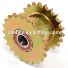 China manufacturing high-quality non-standard zinc plated yellow drive sprocket