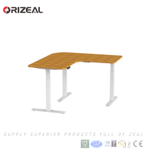 Hot Sell Height Adjustable L Shaped Office Workstation With MDF Desktop