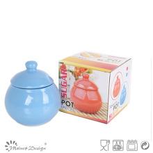 Pot de sucre en céramique Cerarmic avec boîte-cadeau pour la promotion