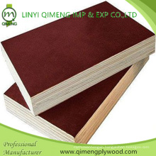 Linyi Qimeng Factory Exporting Brown and Black Film Faced 12mm 15mm 18mm Shuttering Plywood for Construction