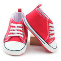 Red Cheap Children Sports Shoes Baby Canvas Shoes