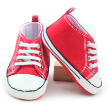 Röda Billiga Barn Sportskor Baby Canvas Shoes