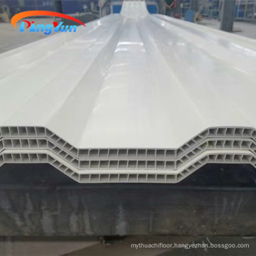 Light weight wall high wave PVC hollow sheet