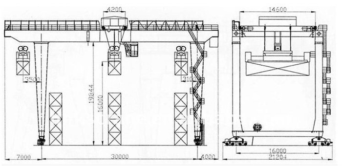 U Type Gantry Crane Structure Diagram