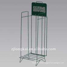 Hot selling fashion cheap green metal floor standing comic book display rack