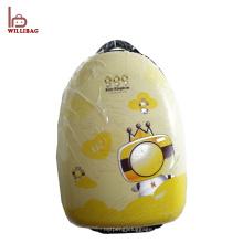 Bolso de escuela rígido de la carretilla del shell del equipaje de los niños de la forma del huevo con las ruedas