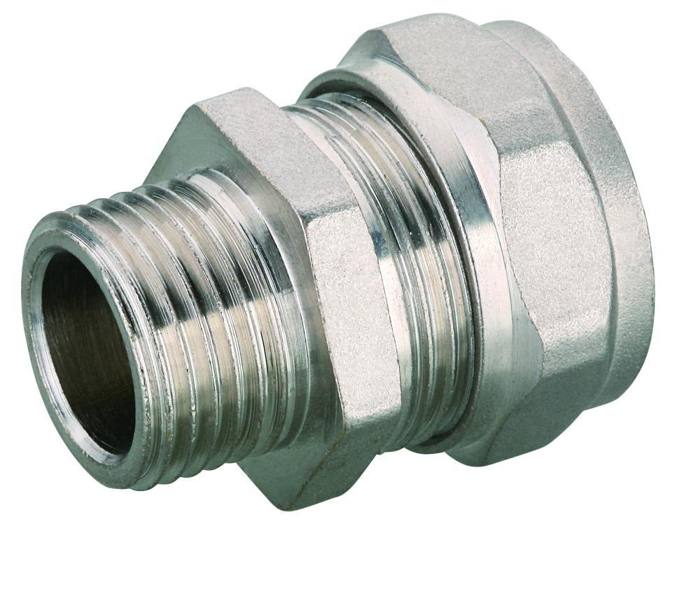 straight male coupler PEX pipe compression coupler