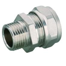 Brass Straight Male Coupler PEX Pipe Compression Fitting
